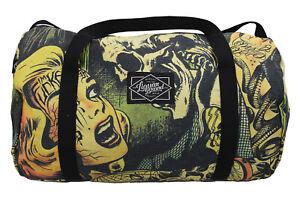 Liquorbrand Horror B Movie cartoon Oversized Duffel Bag