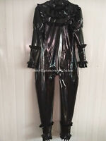 100% New Latex Rubber All-body Suit Bodysuit Catsuit Black Size XXS-XXL