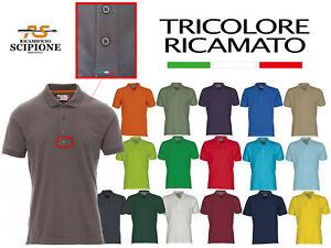 Polo Manica Corta Payper Venice Cotone 100% Uomo con tricolore ricamato