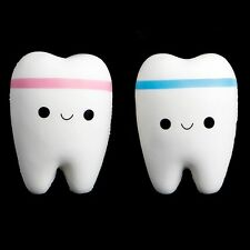 1Pc Tooth Jumbo Squishy Slow Rising Squeeze Stress Hand Soft Toy Phone Pendant