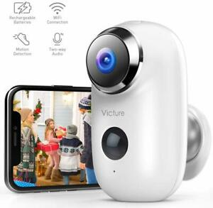 1080P Outdoor Camera Wireless Rechargeable Battery Powered Home Security WiFi
