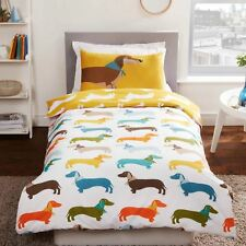 SAUSAGE DOG SINGLE DUVET COVER SET 2 in 1 NEW BEDDING