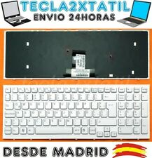 TECLADO ESPAÑOL LATINO PARA PORTATIL SONY VAIO VPCEB3L1E/T BLANCO CON MARCO