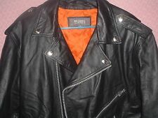 EXTRA LARGE NEW WITHOUT TAG OLD SCHOOL HOG LEATHER BIKER MOTORCYCLE COAT JACKET
