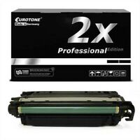 2x Pro Cartridge Black Replaces Canon 040 BK 040BK 40BK
