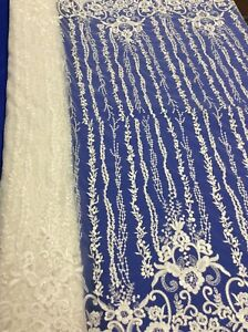 Hardy'sTextile100%PolyTulle/Mesh Fabric with Embroidered & Clear Sequins flowers