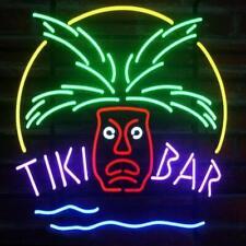 "Tiki Bar Totem Pole Neon Light Sign 20""x16"" Beer Gift Bar Real Glass Artwork"