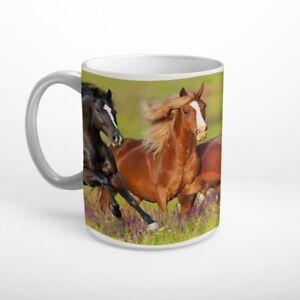 Pferde auf Weide Tasse Kaffeebecher T0502