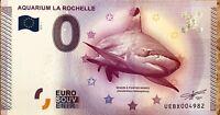 BILLET 0 ZERO EURO SOUVENIR TOURISTIQUE  AQUARIUM DE LA ROCHELLE  2015-1