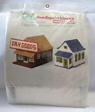vintage Needlepoint Plastic Canvas Kit Dry Goods Store & House Christmas village