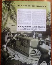 Tommy Gun Armed Sailors Protect Caterpillar Diesel WWII Ad