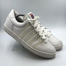 K-Swiss Boys Sz 6.5 Varsity Classic 80100 Low White Leather Sneakers Shoes #145
