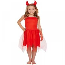 Toddler Girls Red Devil Horns Halloween Party Fancy Dress Costume Outfit 3 Years