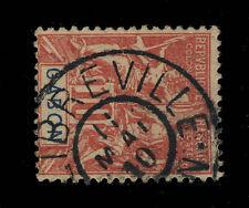 """GABON - 1910 - CACHET 2-CERCLES PLEINS """" LIBREVILLE / GABON """" SUR N°20 10c ROUGE"""