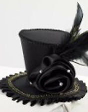 Mini Top Hat Black Steampunk Gothic Burlesque Pin-Up Women Sexy Costume