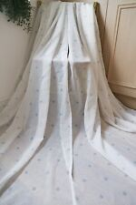 DUCK EGG SPOTTY VOILE PAIR CURTAINS,55WX84D,FINE SHEER,TAB TOP