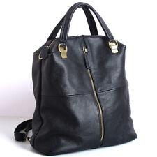 New Designer Cowhide Leather Backpack Women's Black Leather Handbags Travel Bag