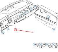 BMW 3 E90 Right Dashboard Trim Cover 51459148069 9148069 NEW GENUINE LHD