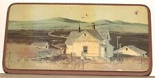 Country Landscape Farm Woodcroftery Print Picture On Wood