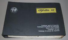 Ersatzteilkatalog Alfa Romeo Alfetta 1,6 Spare Parts Catalog Parti Di Ricambio!