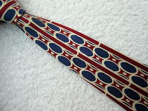 beige navy blue burgundy 3.75 INCH SILK tie NECKTIE by NEXT