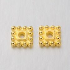 500pcs Tibetan Alloy Square Metal Beads Decorative Loose Spacers Gold Plated 7mm