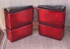 MAZDA 1982-87 626 COUPE GENUINE STANLEY LH & RH TAIL-LIGHT EXTENSIONS!! EC!!