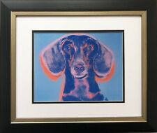 """Andy Warhol """"Portrait of Maurice"""" 1958 CUSTOM FRAMED Art Lithograph NEW Dog"""