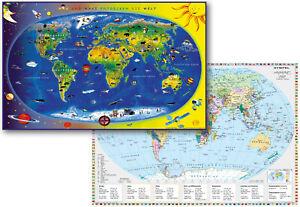 Schreibtischunterlage DUO Kinderweltkarte/Staaten der Erde