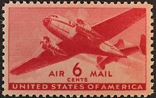 US AIRMAIL C25 6c MOGNH XF