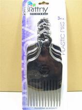 Set of 3 , Professional Black Afro Hair Plastic Pick Pik Super Fist KT18