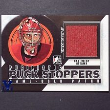 RAY EMERY 1/1  2013-14 ITG Pugilistic Puck Stoppers GU Patch #PPSM04 Blue V  1/1