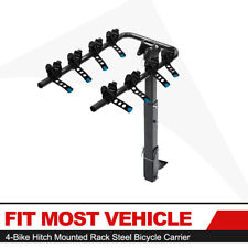 "4-Bike Carrier Rack Premium Hitch Mount Swing Down Bicycle Rack W/ 2"" Receiver"