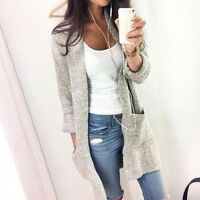 Women Long Sleeve Knitted Cardigan Loose Casual Sweater Outwear Coat Jacket Tops