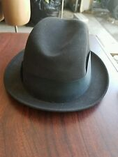Men's Champ Fedora Feel The Felt Kasmir Finish Gray Hat with Black Band 6 7/8