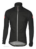 Castelli EMERGENCY RAIN Jacket Windproof Cycling Wind/Rain Shell : BLACK