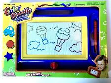 Color Doodle Magnetic Drawing Board (Blue) with Color Screen and Three Stampers