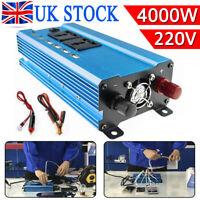 1500/4000W Car Van Converter Power Inverter DC 12V to AC 220V USB Pure Sine Wave