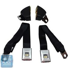 1966-67 GM A / B Body / Nova Front Deluxe Seat Belt Retractor Set - Black