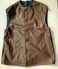 "BRITISH POST WWII ARMY ""P.V.C."" SYNTHETIC BROWN LEATHER STYLE JERKINS"