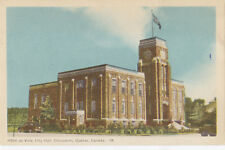 Hôtel de Ville City Hall CHICOUTIMI Saguenay Quebec Canada 1940s PECO Postcard