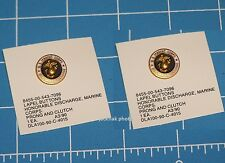 2ea USMC MARINE CORPS HONORABLE DISCHARGE LAPEL HAT PIN BADGE BUTTON P38 Opener