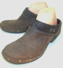 Merrell Womens Clogs Luxe Wrap Bitter Chocolate US 9 Brown Leather Slip-on Shoes