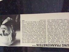 m9-9z ephemera 1970/s film article young frankenstein gene wilder