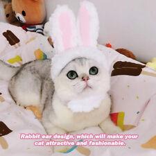 Pet Cat Dog Soft Cotton Rabbit Ear Headwear Kitten Decor Costume Hood Hat  Cap 79de471b7d97