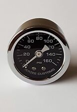 Liquid Filled Oil Pressure Gauge 0-160 psi - BLACK face -Harley Davidson
