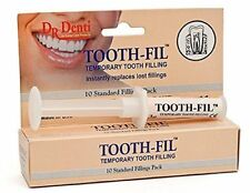 Dr Denti 3 g Tooth-Fill Temporary Tooth Filling Dental Hole Filler Repair Kit