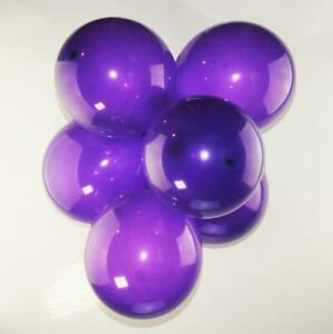 "20x 12"" Crystal Purple Latex Party Balloons Birthday Decorations Decor Round"