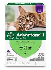 Advantage II Flea Treatment for Large Cats Over 9 lbs, 6 DOSES FREE SHIP