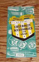 1941 Chevrolet Genuine Accessories Sales Brochure 41 Chevy